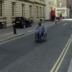 This Man Raced the London Tube in a Wheelchair to Make an Important Point