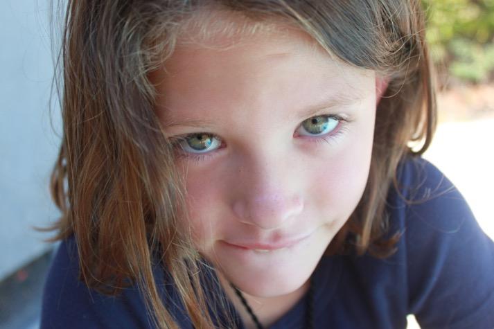author's daughter close up
