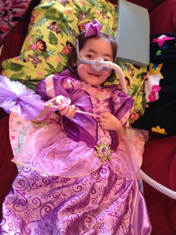 juliana in a princess costume