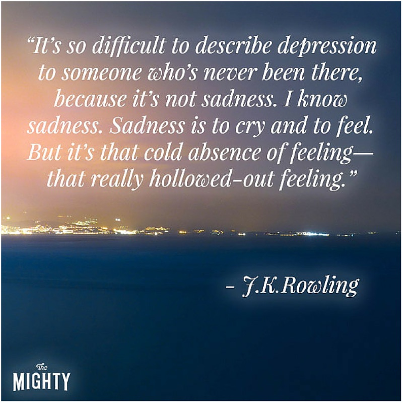 Image result for jk rowling on depression quotes images