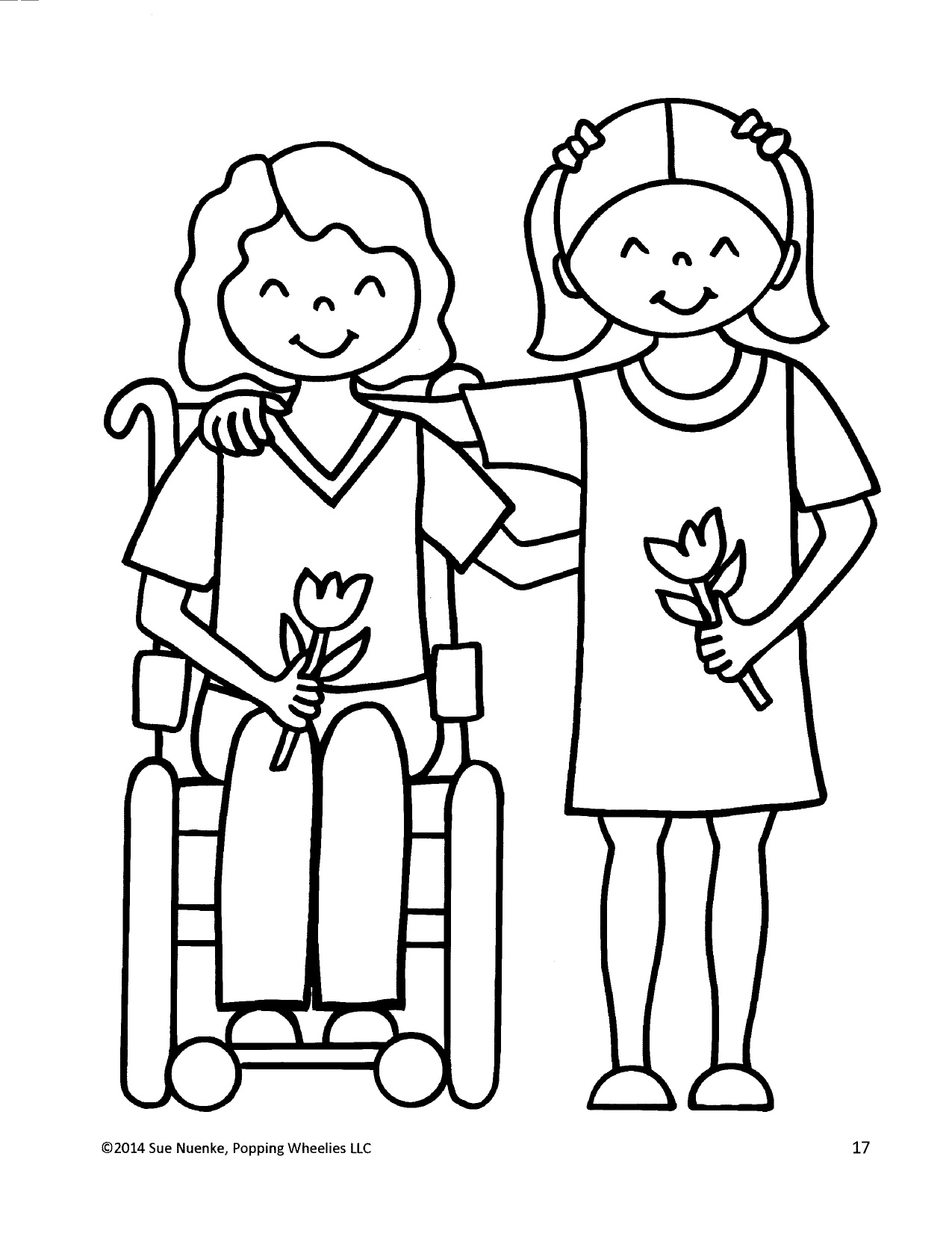 special needs coloring pages - photo#16