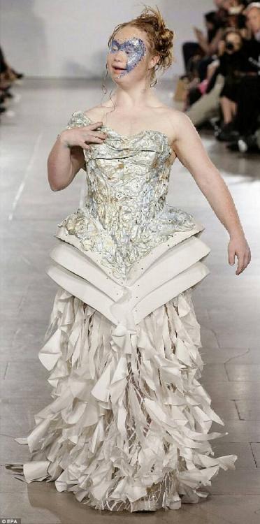 Madeline Stuart on the 2015 New York Fashion Week runway
