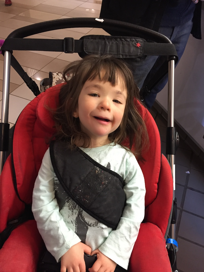 Little girl in a wheelchair. My 4 Word Response to the Mom Blocking the Accessible Bathroom