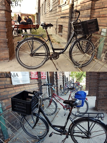 A bike from two different angles.