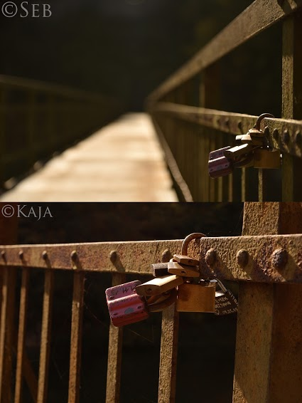 Photo of padlocks from two different angles.