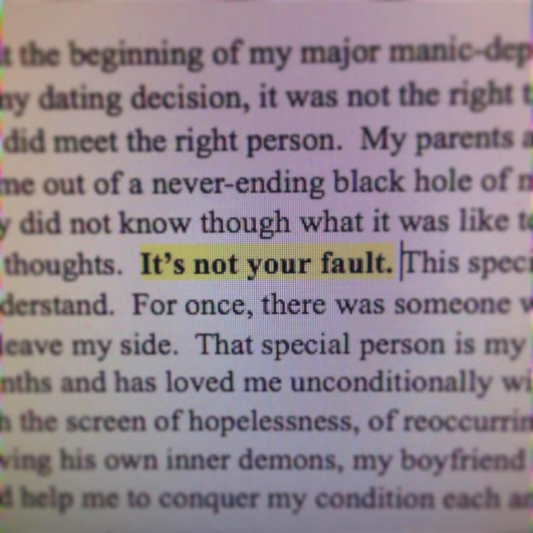 """""""It's not your fault."""""""