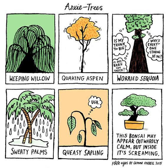 "Real life ""Anxie-trees."" Trees with names like ""Weeping Willow."""