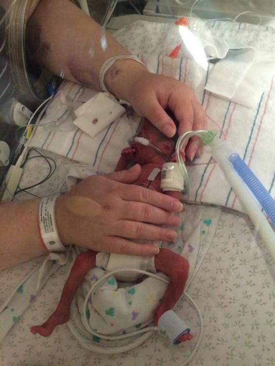 newborn baby in nice hospital