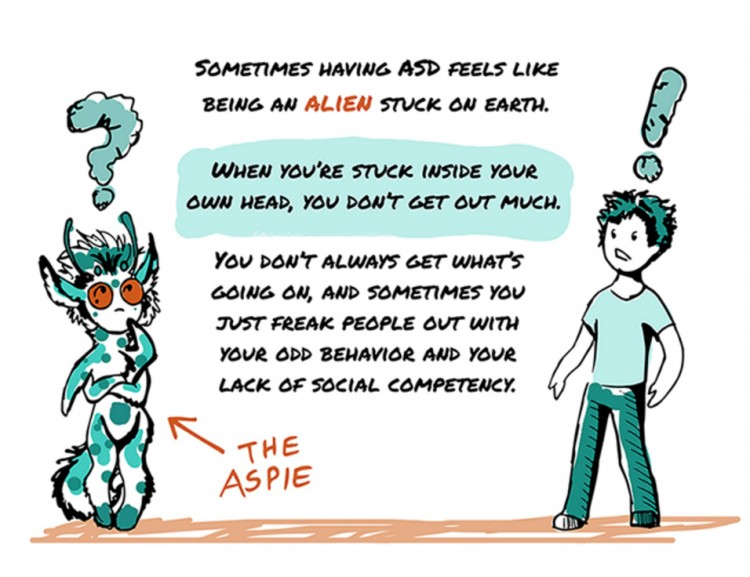 Siara Hughes Asperger's comic