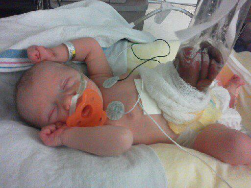 Baby in the hospital