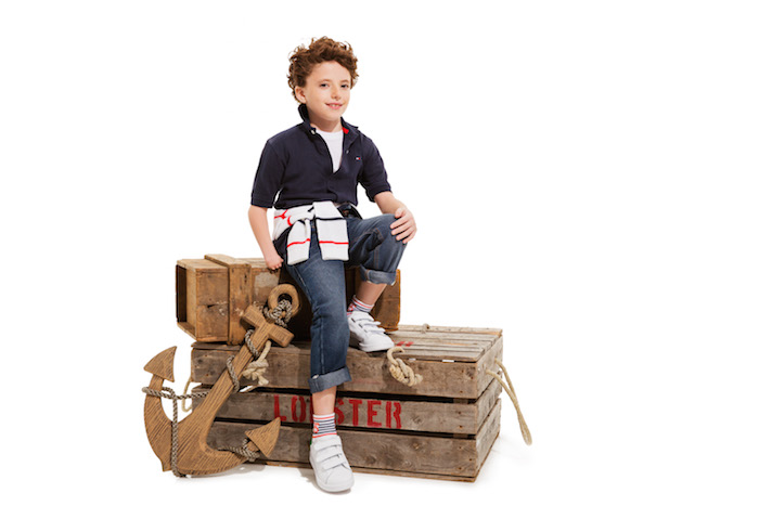A child wearing Tommy Hilfiger adaptable clothing