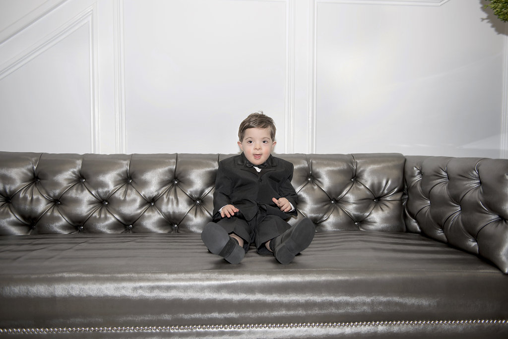 little boy in tux