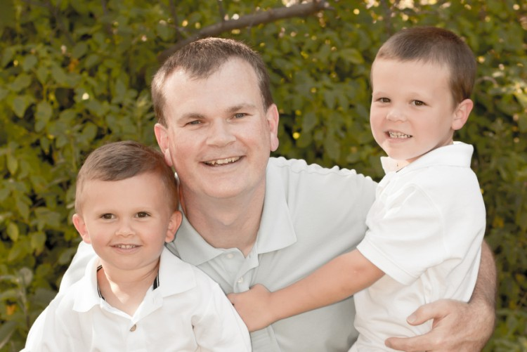 Michael Hollenbeck and his sons