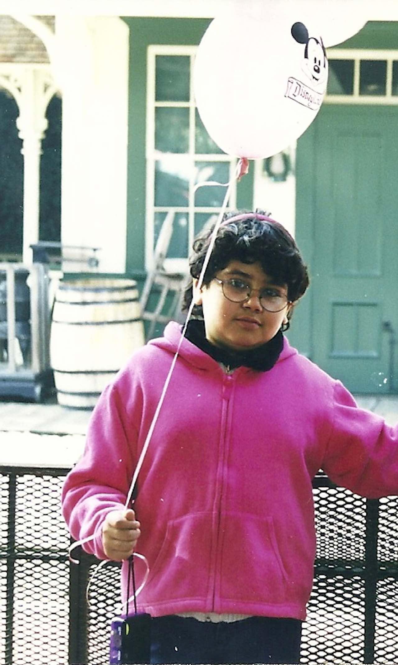 Justina Bonilla in grade school