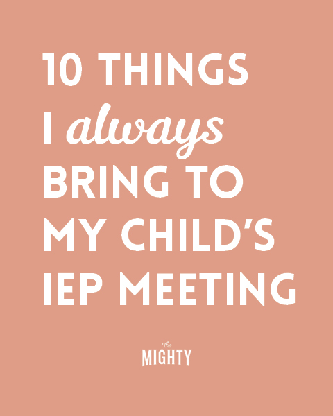 10 Things I Always Bring to My Child's IEP Meeting