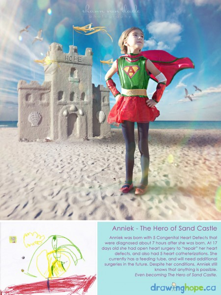 Anniek, the hero of the sand castle