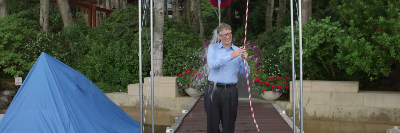 Bill Gates participating in the ice bucket challenge
