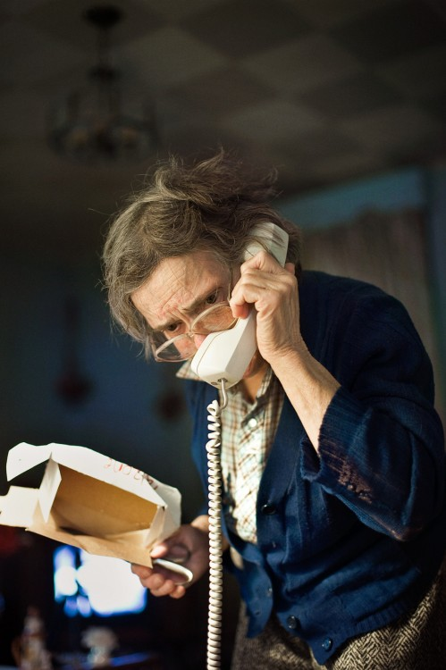 Susan's photograph of her aunt on the telephone