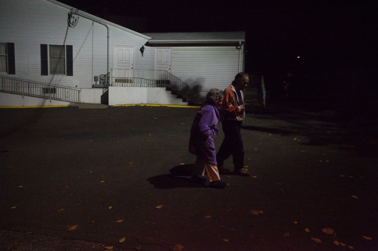 Susan's photograph of her aunt walking outside at night
