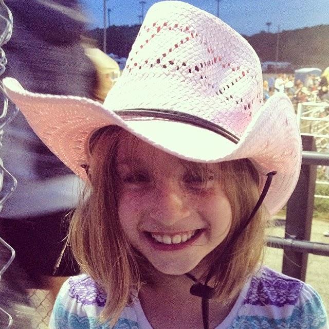 Sydney in pink hat