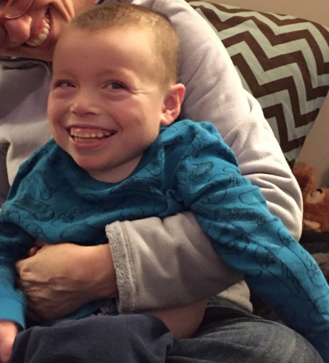 Daniel's son smiling