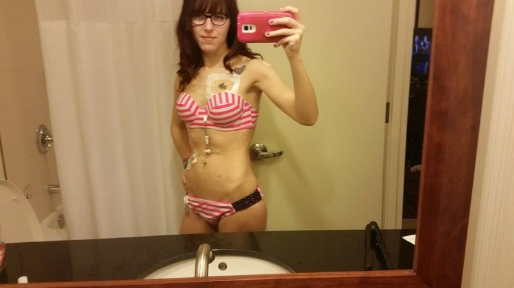 Morgan bikini selfie