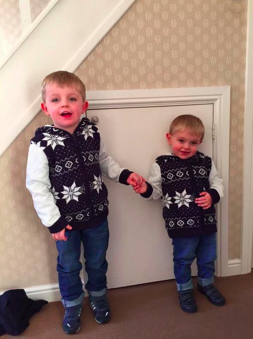 Alisha Thomas big and little brother dressed alike