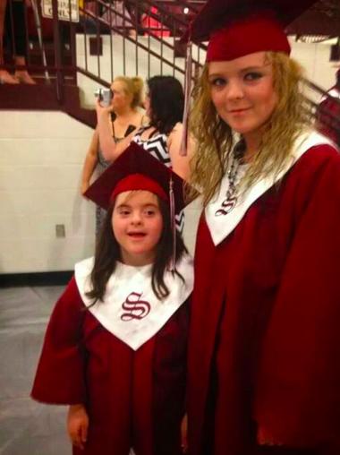 Dayna Walls-Cochran two sisters graduating
