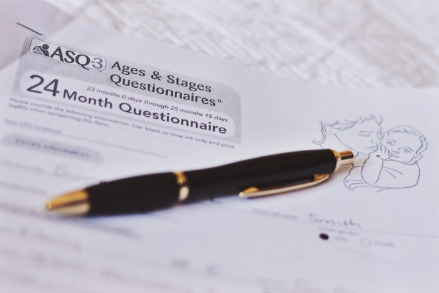 A photo of the ASQ-3 24 Month Questionnaire