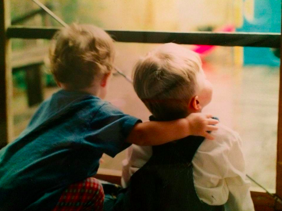 Janine Pawliw Mertz two brothers looking out the window