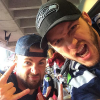 chris evans and chris pratt at the super bowl