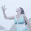 woman performs let it go in american sign language