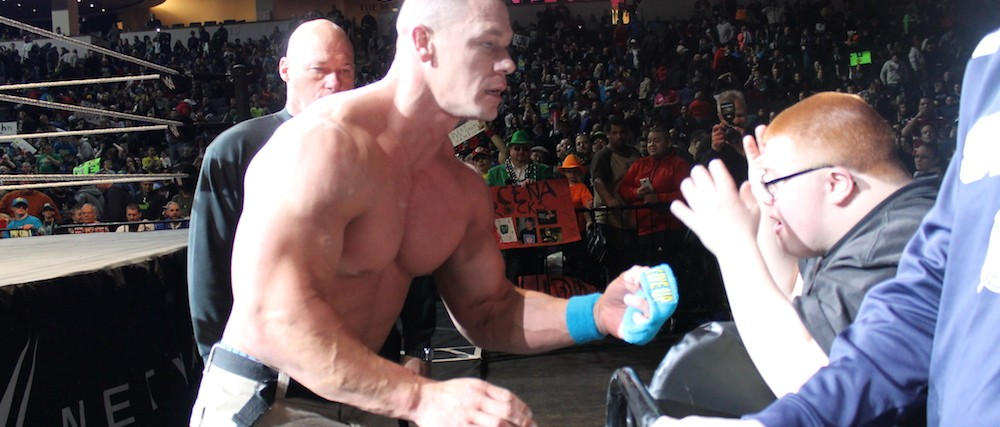 john cena meeting kevin gentry at ring
