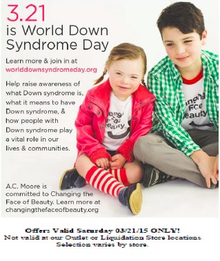 ac moore world down syndrome day ad