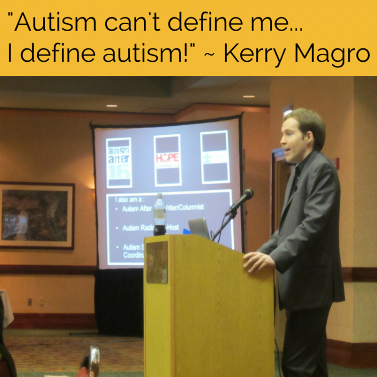 Autism can't define me...I define