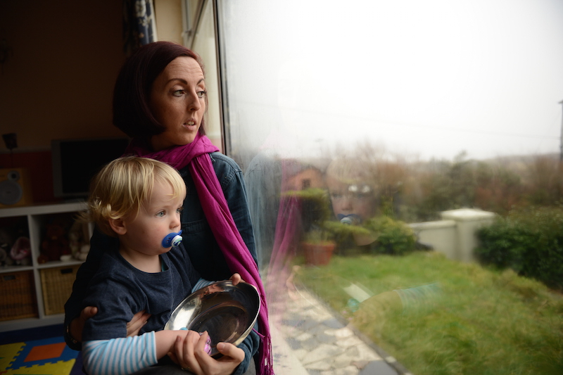 A young mother suffering from post-natal depression