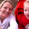 mom and boy in stroller