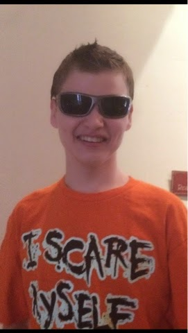 boy with sunglasses on