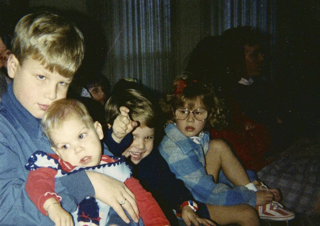 four of the author's children when they were little