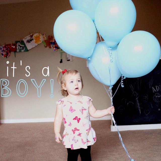 its a boy blue balloons