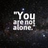 graphic stating you are not alone