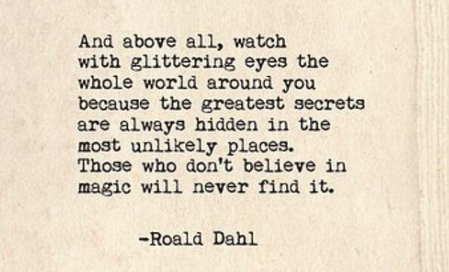 roald dahl glittering eyes quote