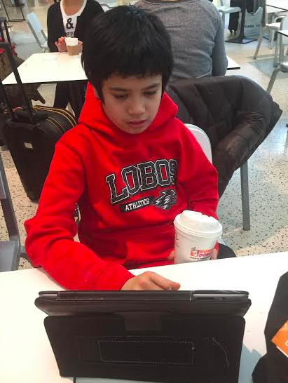 boy with autism using an ipad