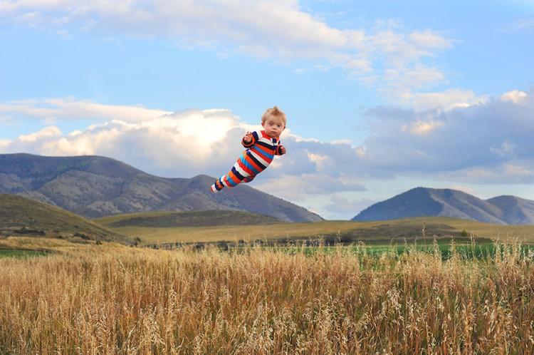 Wil Flying in fields