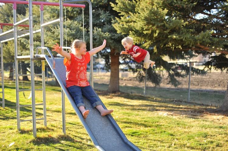Wil flies on slide