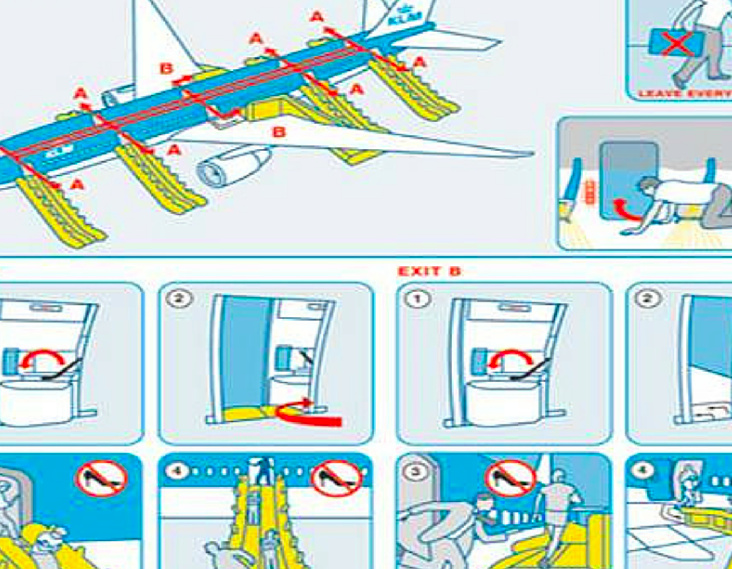 airplane safety sheet