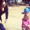 Melissa and her daughter at the playground