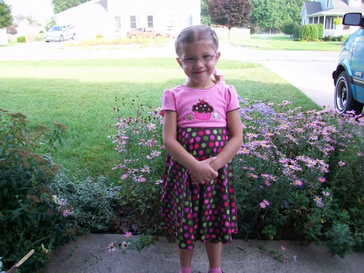 Naomi's first day of school