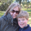 mother in sunglasses with her son