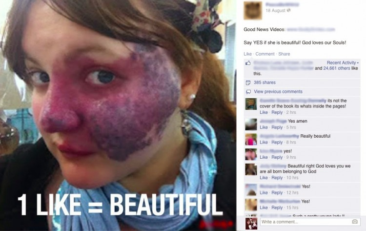 facebook photo of crystal with 1 like = beautiful